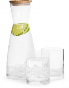 giftset carafe with 2 glass