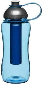 bottle with ice piston, blue