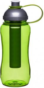 bottle with ice piston, green