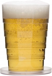 beer glass, collapsible
