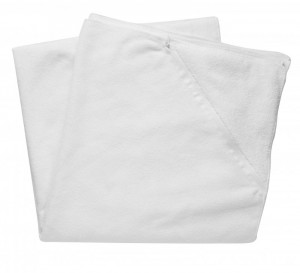 sports  towel with storage pocket, large, white