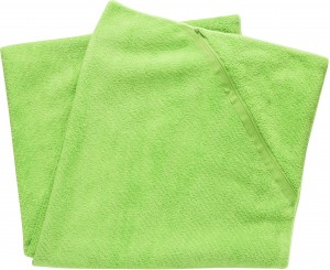 Sports  towel with storage pocket, large, green