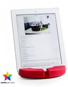 cookďn read trivet/stand for tablet, red