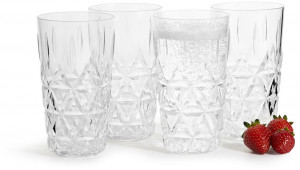 picknick all purpose glass 4-pac, transparant