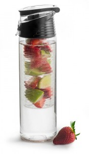 fresh bottle with fruit piston, black