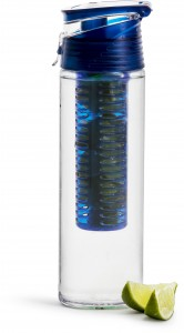 fresh bottle with fruit piston, blue