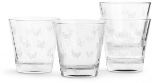 butterfly glass 4-pack, white