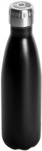 steel bottle black with speaker