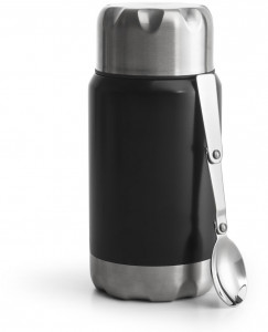 food thermos black 600 ml
