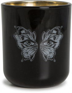 candle  pozzi black butterfly